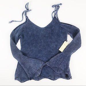 NWT Vintage Havana Knit Cold Shoulder Top Size S